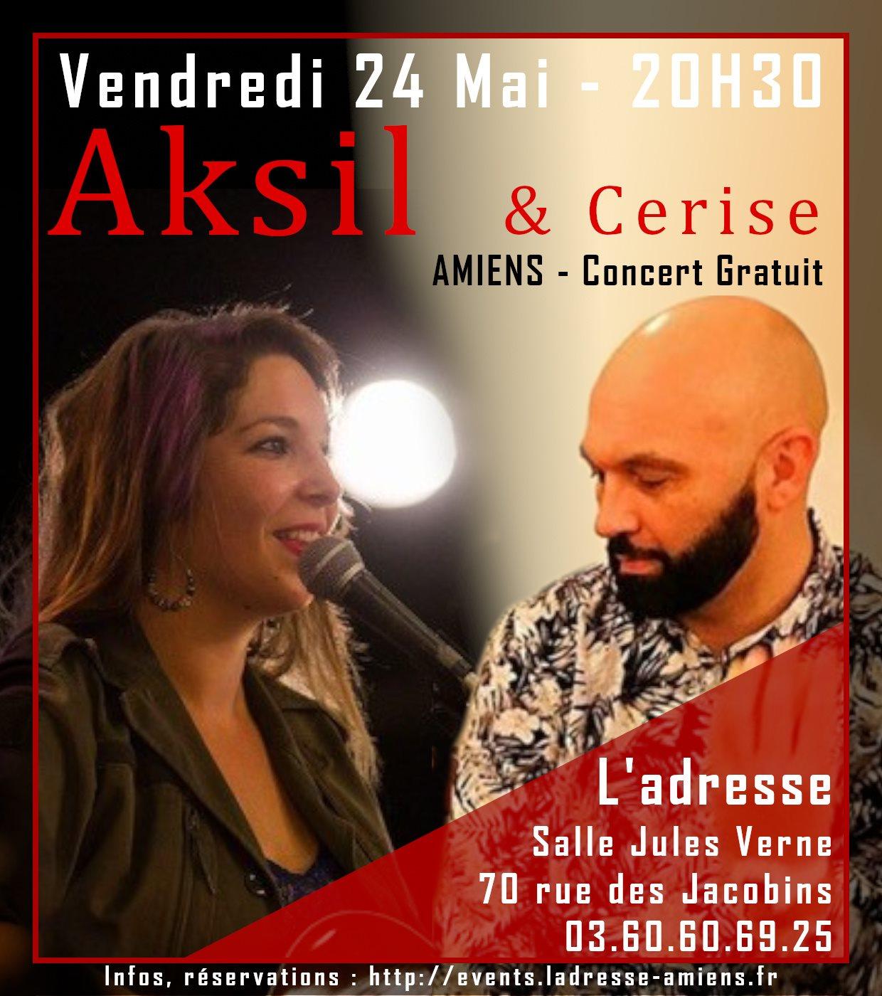 Aksil & Cerise Affiche 24 MAI 2019