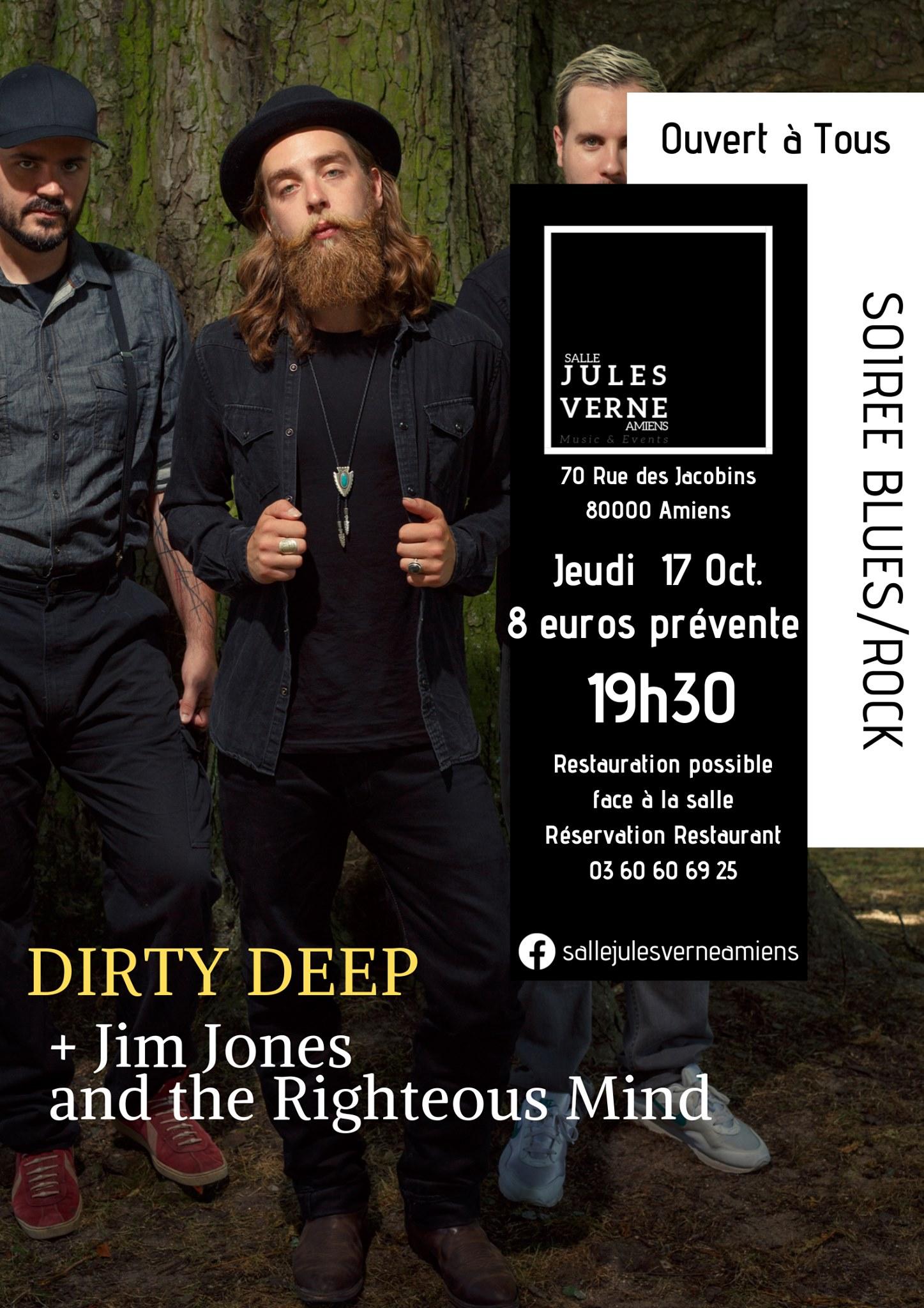 Dirty Deep Affiche 17 OCTOBRE 2019