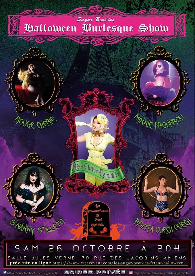 Halloween Burlesque Show Affiche 26 OCTOBRE 2019