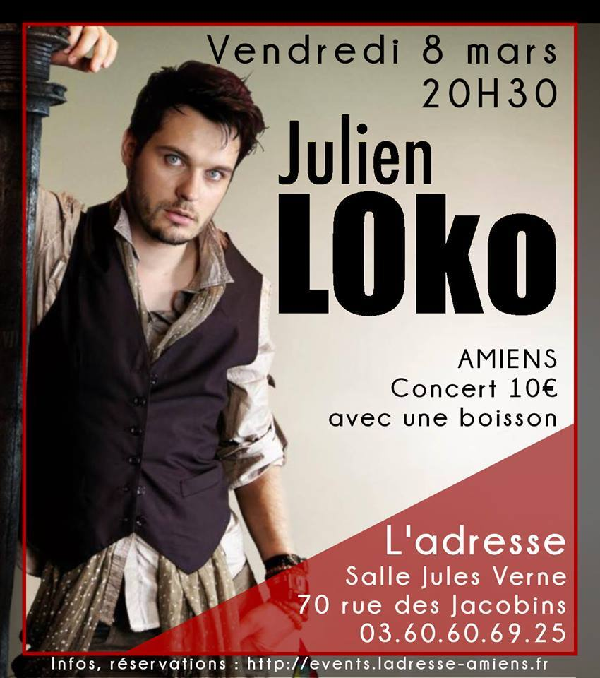 Julien Loko Affiche 8 MARS 2019