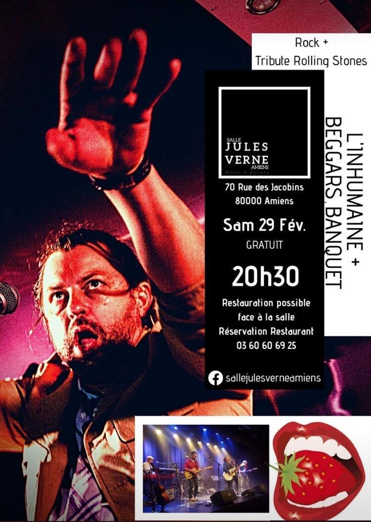 L'InHumaine - Beggars Banquet Affiche 29 FEVRIER 2020