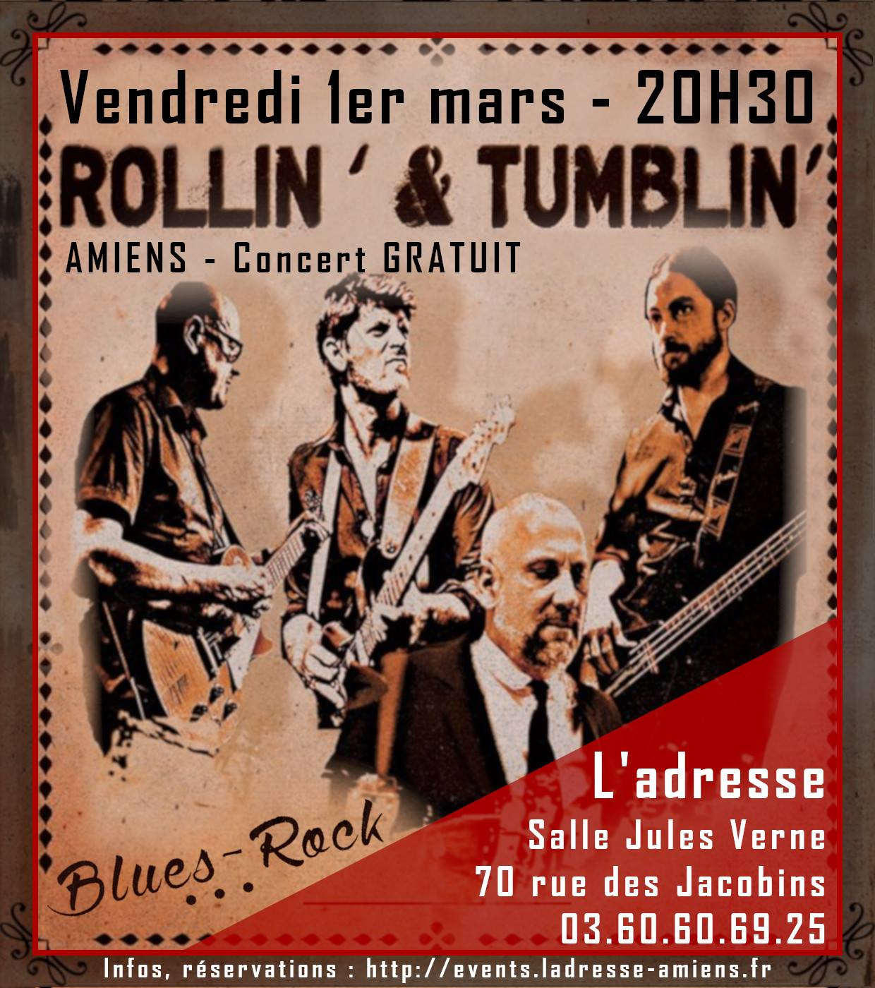 Rollin' and Tumblin' Affiche 1 MARS 2019