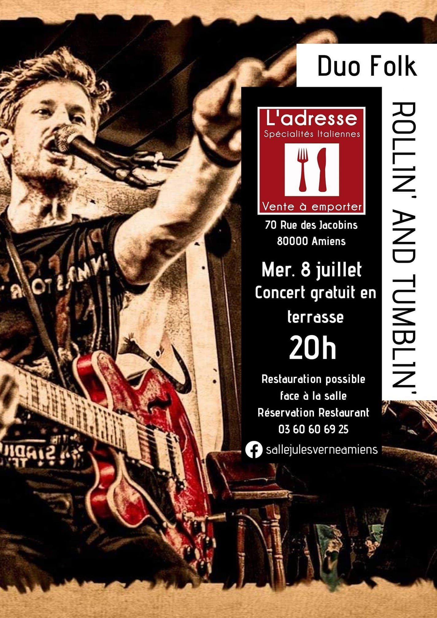 Rollin' and Tumblin' Affiche 8 JUILLET 2020