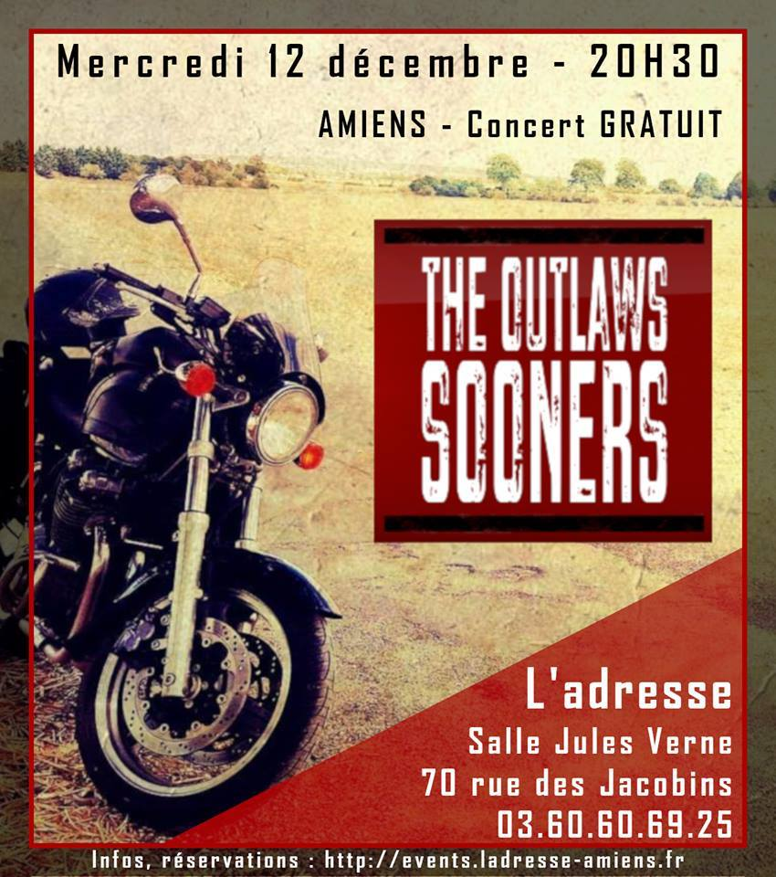 The Outlaws Sooners Affiche 12 DECEMBRE 2018